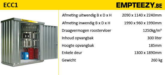 Opslag gevaarlijke stoffen - Opslagcontainer ECC1