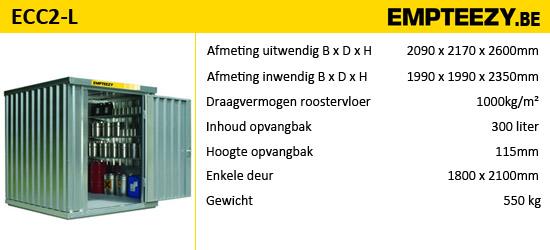 Opslag gevaarlijke stoffen - opslagcontainer ECC2-L