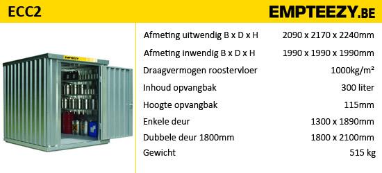 Opslag gevaarlijke stoffen - opslagcontainer ECC2
