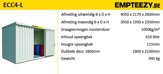 Opslag gevaarlijke stoffen - opslagcontainer ECC4-L
