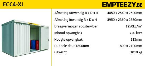 Opslag gevaarlijke stoffen - opslagcontainer ECC4-XL