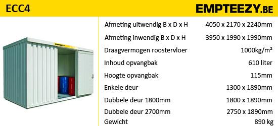 Opslag gevaarlijke stoffen - opslagcontainer ECC4