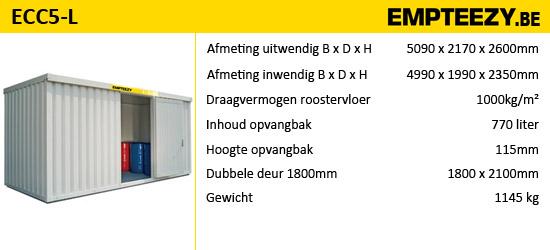 Opslag gevaarlijke stoffen - opslagcontainer ECC5-L