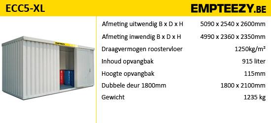 Opslag gevaarlijke stoffen - opslagcontainer ECC5-XL