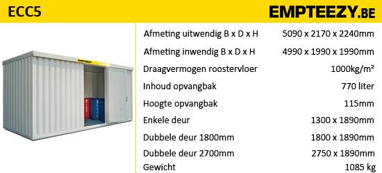 Opslag gevaarlijke stoffen - opslagcontainer ECC5