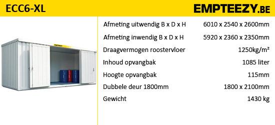 Opslag gevaarlijke stoffen - opslagcontainer ECC6-XL