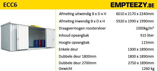 Opslag gevaarlijke stoffen - opslagcontainer ECC6