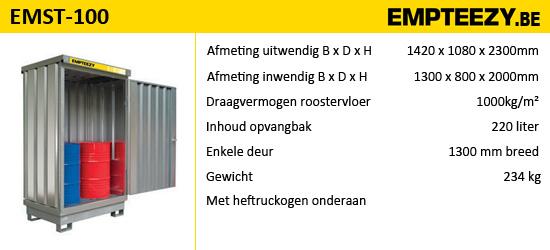 Opslag gevaarlijke stoffen - opslagcontainer EMST-100
