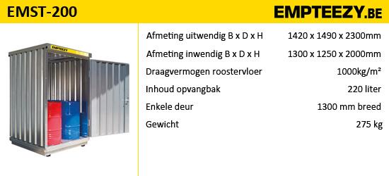 Opslag gevaarlijke stoffen - opslagcontainer EMST-200